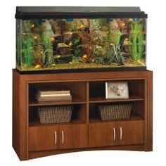 I think I might have found a winner =-)Top Fin® Aquarium Cabinet - PetSmart