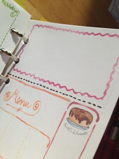 Dotted line Free Filofax Weekly Inserts