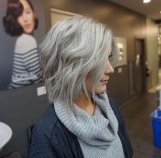 Silver gray bob by Katelynn Wilcox