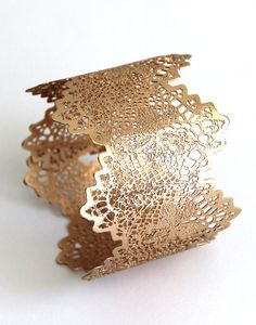 rose gold leaf  braceletWide bangle 24 karat rose