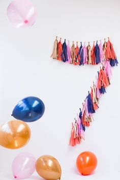 Tassel Garland Numbers DIY