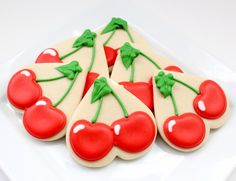 Cherry Cookies Using a Heart Cutter