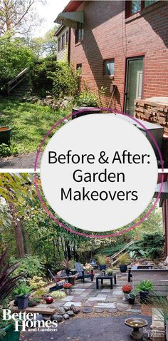 You will not believe these amazing before and after photos of our favorite garden makeovers. Get inspired by these brilliant landscaping ideas that will help turn your backyard into a garden oasis. Many of these ideas can even be done on a budget.