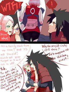 Madara Sakura 1 I'm cracking up at this ship! I didn't know it was a thing!