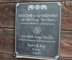 Hindu/Western Henna Inspired Wedding Welcome. 20 x 24