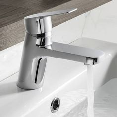 The elegant design of the Crosswater Kelly Hoppen Zero 6 Basin Monobloc will transform any bathroom. Bath Taps, Bathroom Taps, Bathroom Ideas, Kelly Hoppen, Shower Cubicles, 5 Bar, Basin Mixer Taps, Upstairs Bathrooms, Shower Systems