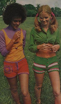 OMG crochet shorts 60s/70s retro