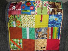 A member came across a great idea for anyone wanting to make a charity quilt – Fidget Quilts for Alzheimer patients. Many Alzheimer patients are constantly moving/fidgeting their hands so thi…