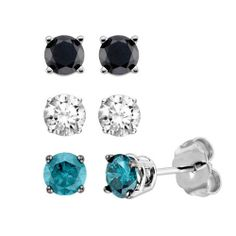 3/4 ct. tw. Multi-Colored Diamond Earring Box Set |  #classic wear to work for every outfit $450.00