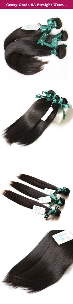 Cexxy Grade 8A Straight Weave Bundles Hair Brazilian Virgin Hair for Black Women Mix Length 12-24 Inches 4 Bundles. Are you looking for high quality hair extensions? You are now making right decision to shop with Cexxy! All Cexxy hair is 100% virgin hair,can be dyed or bleached well,in natural state,in natural color.Its material is collected from its origin by professionals,all is cut from young ladies,washed twice with warm water and shampoo,then made into weaves by own factory.Machine...