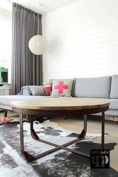 T016 ronde salontafel, industrieel design quip&Co