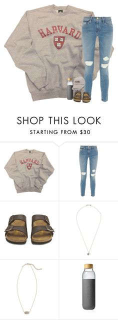 """i spy"" by hailstails ❤ liked on Polyvore featuring Frame, Birkenstock, Melissa Joy Manning, Kendra Scott, Soma and Victoria's Secret"