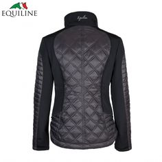 2b2ee14965 Equiline Crystal Jacket in Black   Ladies Equestrian Jackets