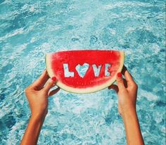 "Love is missing from the watermelon...but can u see behind them there's the ocean, maybe it called ""love""."