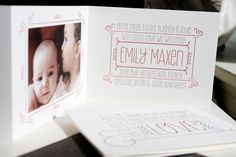 Letterpress Baby Announcements by Albertine Press via Oh So Beautiful Paper (5)