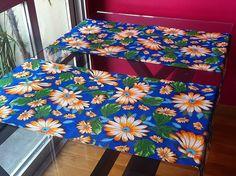 Caminho Mesa Chita 130x45cm Blue Chita Table Runner