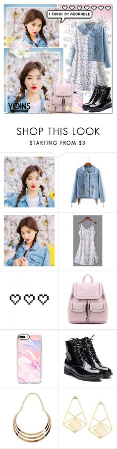 """Cherry Blossoms & Denim // Yoins"" by angelstylee ❤ liked on Polyvore featuring chuu, Retrò, Casetify, yoins, yoinscollection and loveyoins"