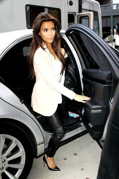 Kim Kardashian White Blazer