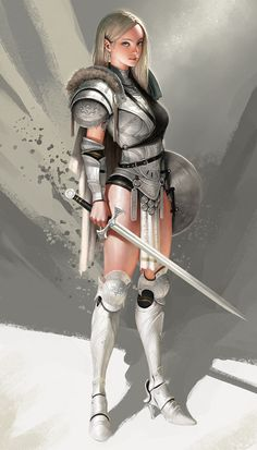 ArtStation - girl warrior, SYAR .