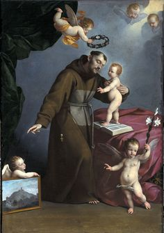 St. Francis with the infant Jesus