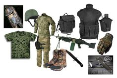 """""""TAT SPECIAL FORCES UNIFORM (SUPPORT)"""" by louis-sargent ❤ liked on Polyvore featuring art"""