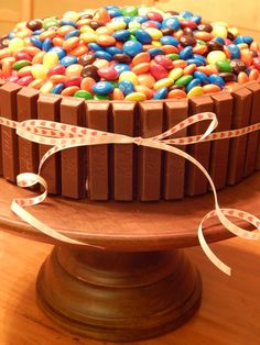 MM and Kit Kat Candy Cake at The Dessert Chronicles