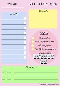 Tagesplan