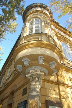 Beautiful architecture in the city of Subotica in Vojvodina, Serbia