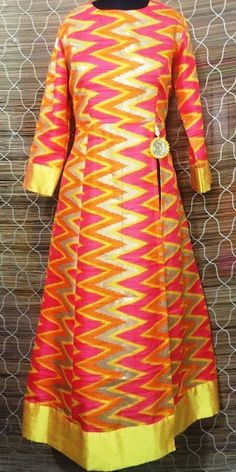 Yellow Wave Kurti