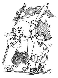 Sora and Riku - Kid Ver. by hangdok