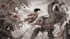View an image titled 'Concept for Play Art' in our Afro Samurai art gallery featuring official character designs, concept art, and promo pictures. Afro Samurai, Samurai Art, Terryl Whitlatch, Art Bin, Epic Drawings, Concept Art World, Artist Painting, Black Art, Art Pictures