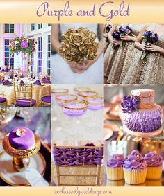 "Purple and Gold Wedding | ""Add Glamour to Your Wedding with Gold – 5 Dazzling Combinations"""