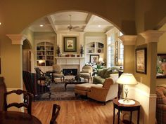 In a room this spacious, use symmetry to create a proper balance of furnishings and accessories. Design by Loretta Willis. HGTV