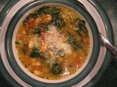 Oh, so good . . .  Terrific Tuscan Vegetable Soup - Ellie Krieger from Food.com:   								A meal both filling and fulfilling! The flavors are great. This comes together so fast. It can be made ahead, just add the spinach 3 minutes  before serving, enjoy!