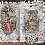 Mary and Jesus Fabric Collage Book, Pages 4&5 by therusticvictorian