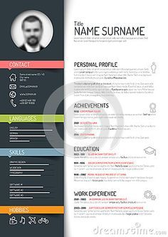 Illustrator Resume Templates Simple Illustrator Resume Template Free Download  Business