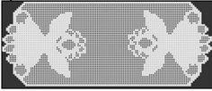 Filet Crochet Patterns - Holiday/Seasonal - ANGEL RUNNER Christmas FILET CROCHET PATTERN