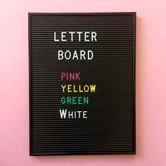 Letter Board - kirjaintaulu | Tuutilulla
