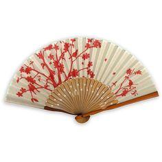 """""""Tenugui Print"""" Tenugui design hand fan,bamboo fan,Japanese hand fan found on Polyvore"""