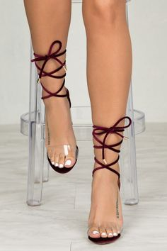 60$ Bailey Lace Up Heel (Wine)