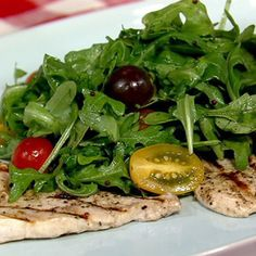 Mario Batali's Swordfish Paillard with Arugula and Tomatoes Recipe #thechew