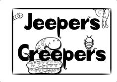 Colouring critters Jeepers Creepers, Creepy, Mickey Mouse, Disney Characters, Fictional Characters, Company Logo, Colouring, Party, Kids