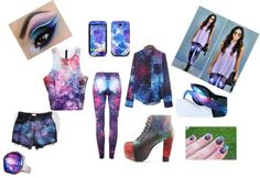 """Galaxy style"" by fabbie-ray on Polyvore"