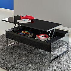 Astuce rangement ; une table basse avec tablette relevable