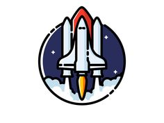 Space Shuttle designed by Nikolai Titov. Connect with them on Dribbble; Line Design, Icon Design, Vector Logo Design, Make Up Your Mind, Our Solar System, Space Shuttle, Pictogram, Astronomy, Product Launch