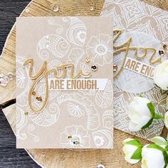 Inspired by traditional Henna body art, Yana shows us how to use intricate stamps to create interesting backgrounds!
