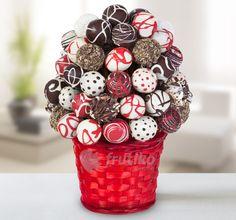 Popcake flower from delicious round muffins