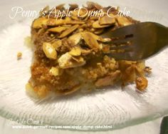 Super quick. Super easy. Super yummy! Penny's Apple Dump Cake http://www.quick-german-recipes.com/apple-dump-cake.html