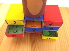 Lerne die Einmaleins-Reihen dank dieser bunten Einmaleins-Schubladen.