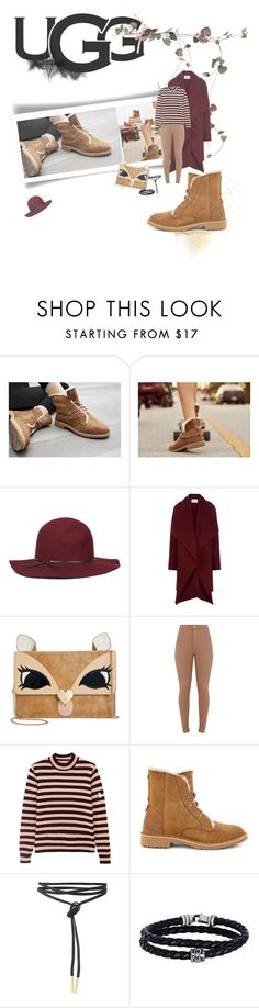 """""""The New Classics With UGG: Contest Entry"""" by vallyk ❤ liked on Polyvore featuring UGG, Nine West, Harris Wharf London, Betsey Johnson, Shrimps, Phillip Gavriel and ugg"""